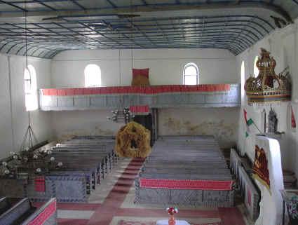 A kőrispataki református templom belseje