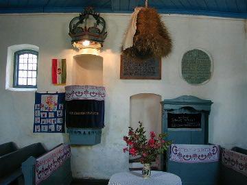 A kőrispataki unitárius templom belseje
